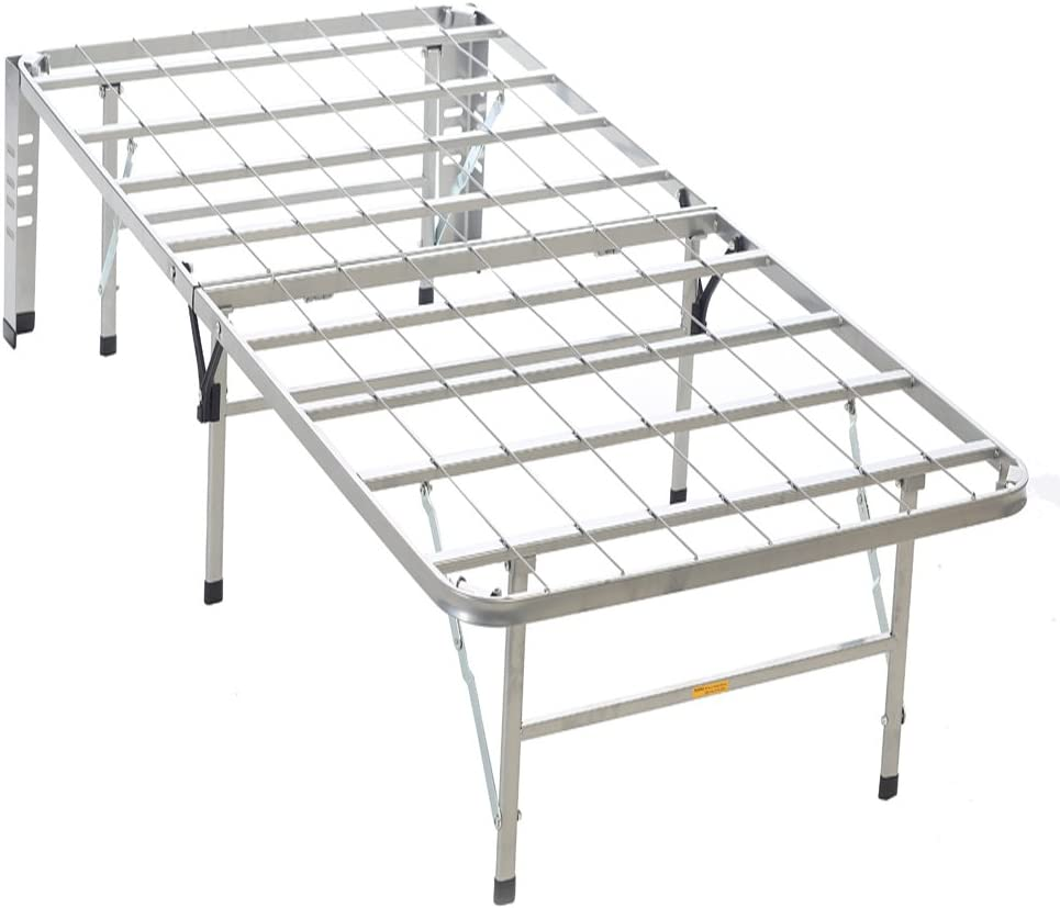 Serta Stable-Base Bed Frames, Silver, Twin
