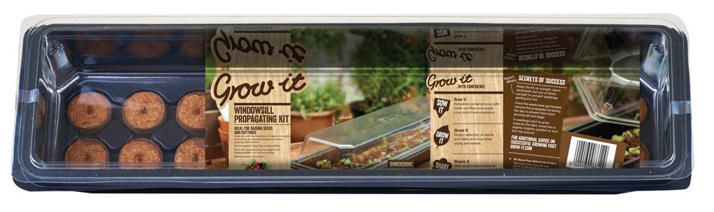 Gardman Grow it 08612 Windowsill Growing Kit, Multi-Colour, 16 x 55 x 8 cm