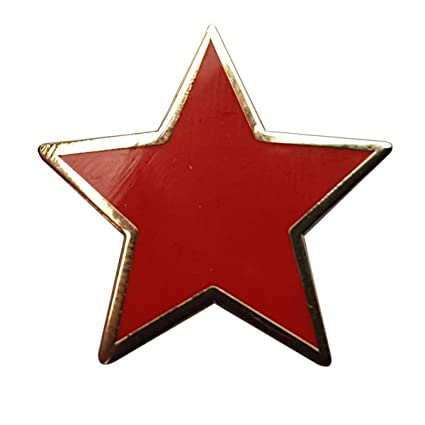Amazon Plain Red Star Pin Badge Office Products