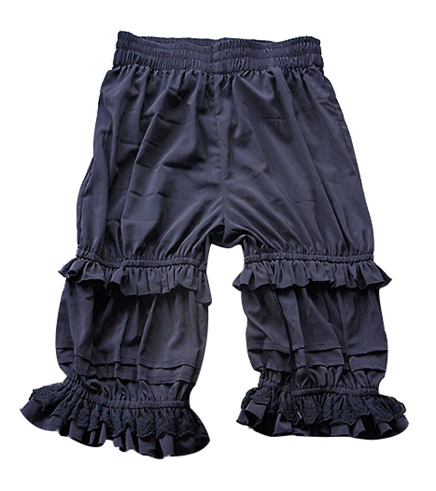 Nuoqi Women's Sweet Lolita Bloomers Novelties Steampunk Pantaloons Black GC240B-M-3