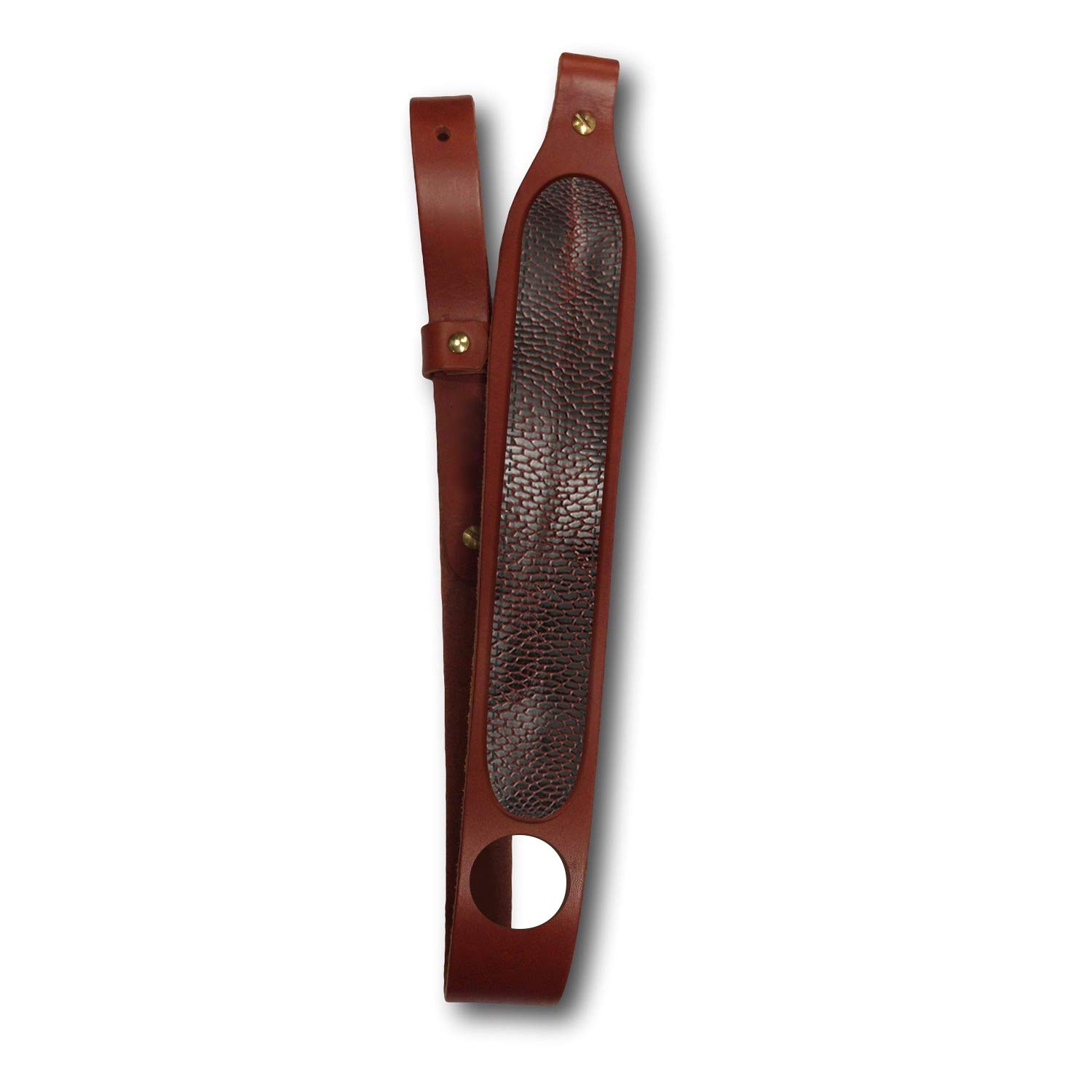 Southern Trapper Genuine Beaver Tail Leather Rifle Sling - Adjustable - 100-Year Warranty
