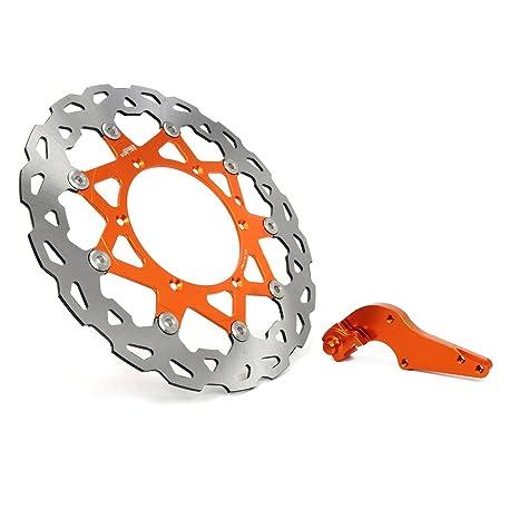 JFG Racing 320mm Orange Vorne Schwimmende Bremsscheibenhalterung SX MX GS EXC MXC SXF SXS XCW XCF XCG LC4 SXC540 SXS450F SXS450 MXC450 EXC450 EXC400