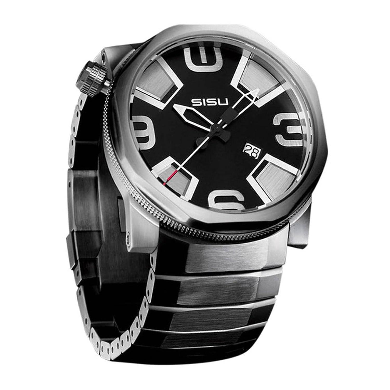 SISU Bravado第4四半期クオーツメンズ腕時計、ブラック