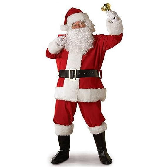 OverDose Traje de Traje de Navidad Santa Claus Unisex para Hombres Mujeres cinturón + Sombrero + topas + Pantalones