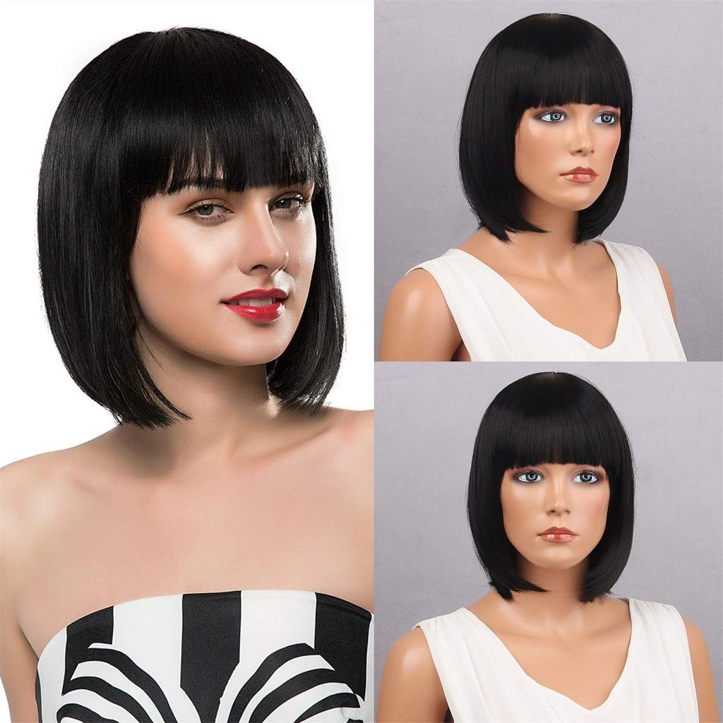 Pageboy Wig Black 70/'s Fringe Wig 70/'s Wig Ladies Fancy Dress