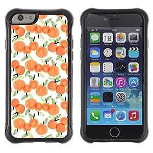 Suave TPU GEL Carcasa Funda Silicona Blando Estuche Caso de protección (para) Apple Iphone 6 PLUS 5.5 / CECELL Phone case / / Apple Watercolor White Peach Orange /