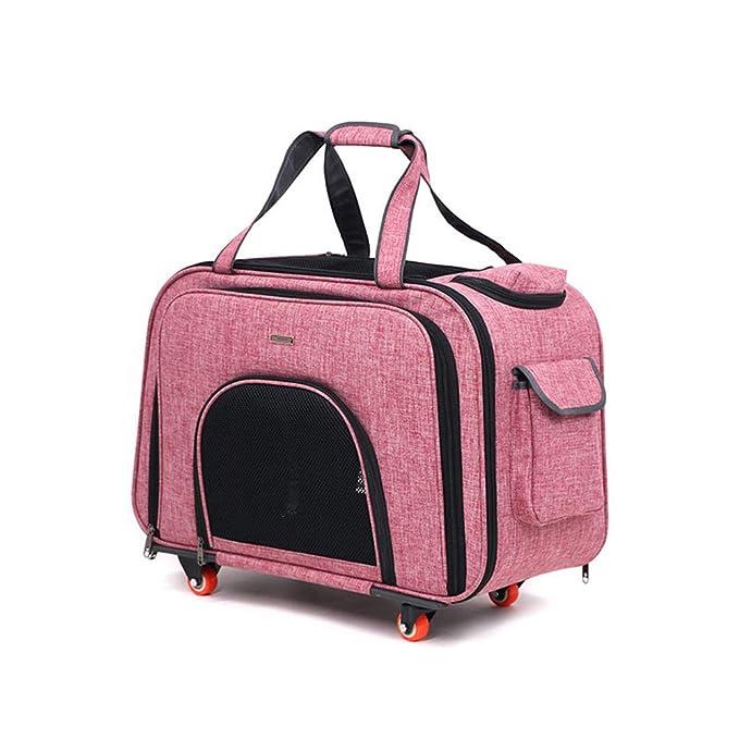 Cutepet Mochila Transportín Carrito 2 En 1 Multiusos Viaje para Perros Gatos Y Otros Animales,Pink: Amazon.es: Deportes y aire libre