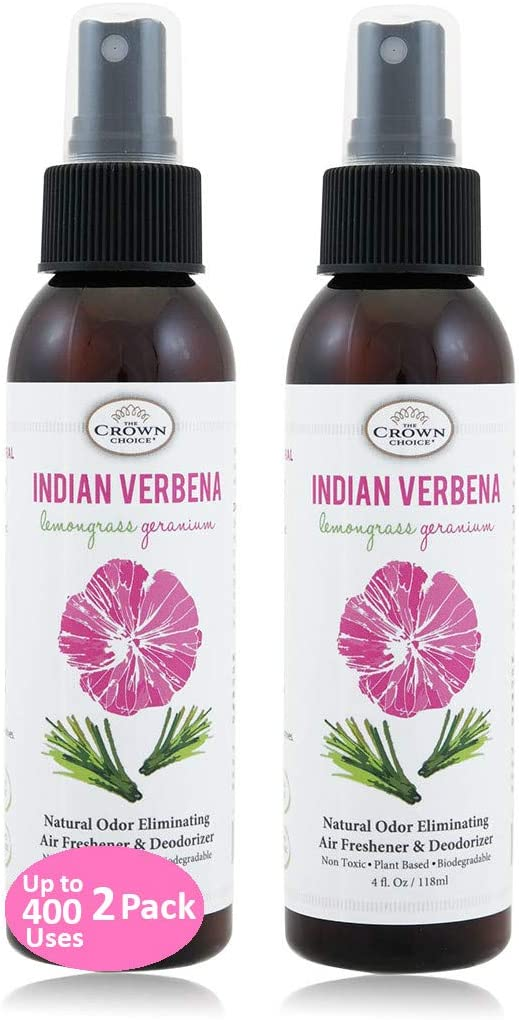 Natural Bathroom Spray (2PK Lemongrass Geranium) | Odor Eliminator Using Essential Oils to Sanitize Neutralize Toilet Odors and Refresh Home, Rooms, Bathrooms