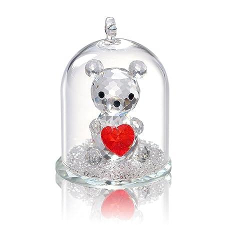 Rosa Figur Kristallfigur Glasfigur Deko Schmetterling Briefbeschwerer Hochzeit