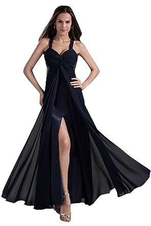 Beauty-Emily A-Line Rückenfrei Open-Side-Pullover Ohne Arm Kleid  Amazon.de   Bekleidung dc8913c4dd