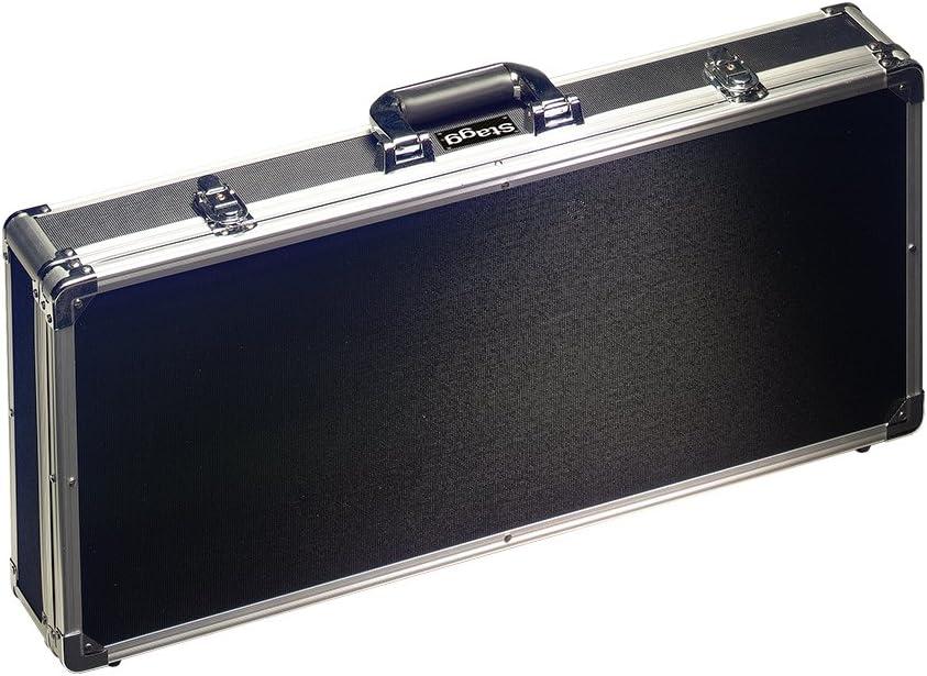 Stagg UPC-688 - Estuche para pedales de efectos de guitarra, color negro y plateado