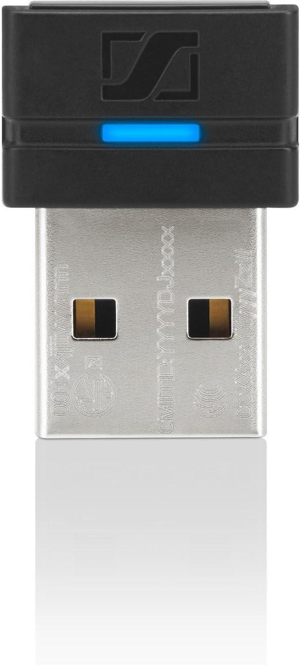 Sennheiser BTD 800ml USB Bluetooth Adaptador y Tarjeta de Red–Tarjeta y Adaptador de Red (con Hilos/sin Hilos, USB, Bluetooth, A2DP, AVRCP, HFP, HSP, Negro, 25m)