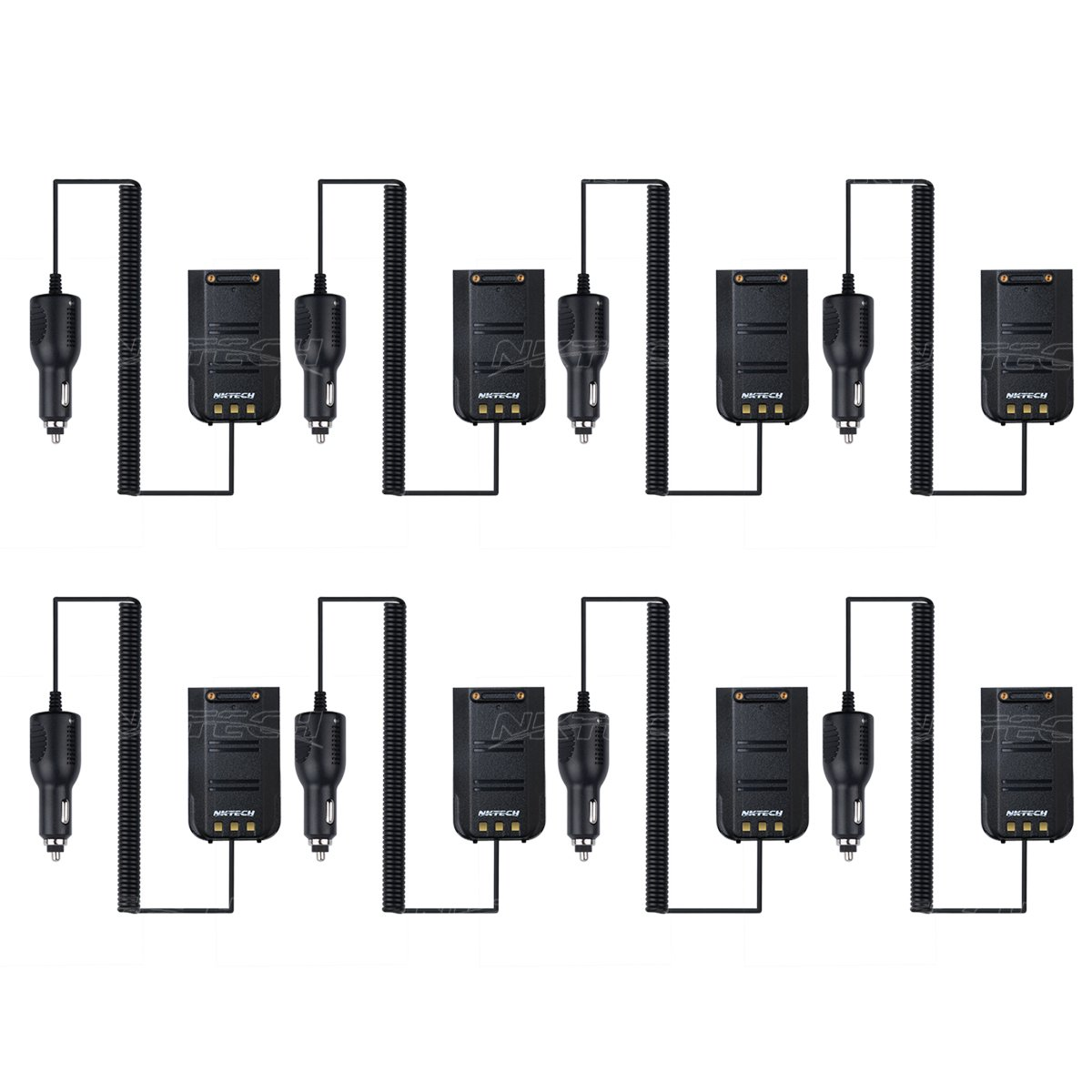 NKTECH Car Charger Battery Eliminator For TYT Tytera MD-380 NKTECH MD-380U MD-380V Digital Mobile Radio DMR Two Way Radio Transceiver Pack of 9