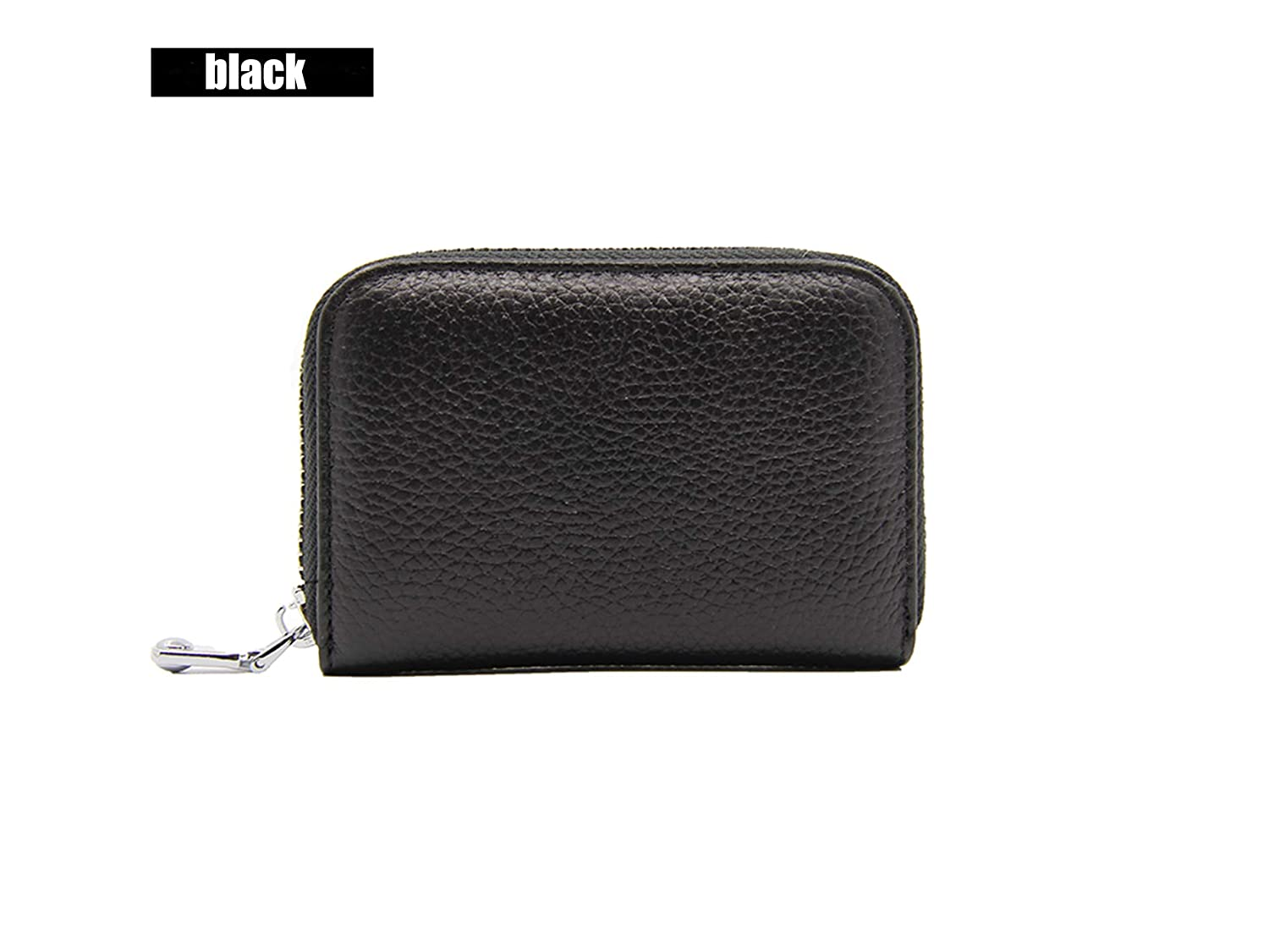 Card Holder wallets Genisy RFID Geniune Leather Credit Card Pures (black)