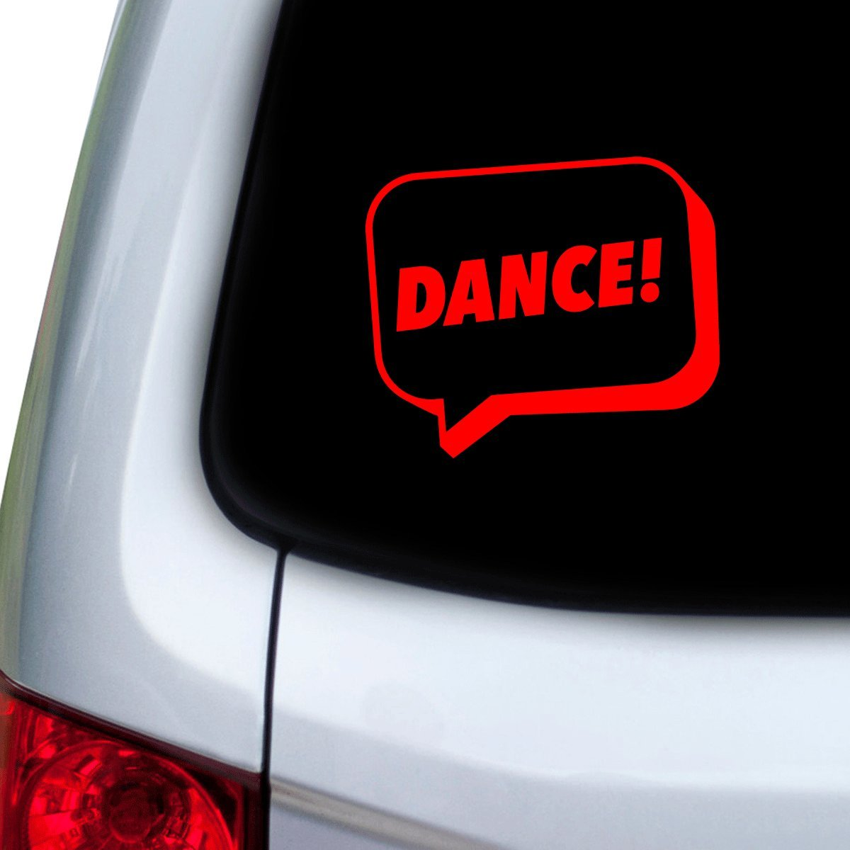 Doors StickAny Car and Auto Decal Series Dance Hoods Speech Bubble Sticker for Windows Red
