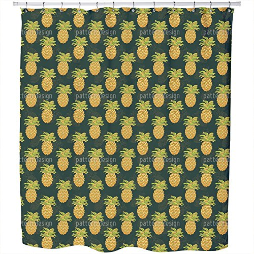 Uneekee Ripe Pineapples Shower Curtain: Large Waterproof Luxurious Bathroom Design Woven Fabric by uneekee