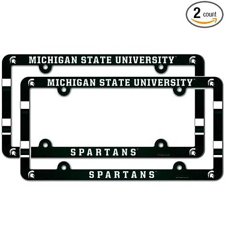 Amazon.com : Michigan State University Spartans NCAA Plastic License ...