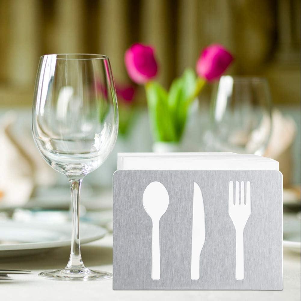 Dispensador de servilletas de c/óctel de papel decorativo Soporte de servilletas moderno Decoraci/ón de mesa en rack Servilletero