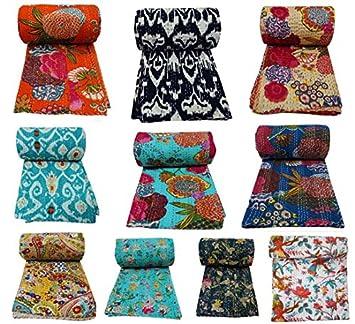 couvre lit indien Indien décoratif multicolore motif floral couette couvre lit en  couvre lit indien