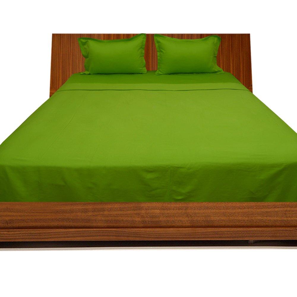 Dreamz Bedding- 600-thread-count Ägyptische Baumwolle Bed Sheet 38,1cm Set Deep Pocket UK King, Parrot Green Solide, 600tc 100% Baumwolle Bettwäsche Sets