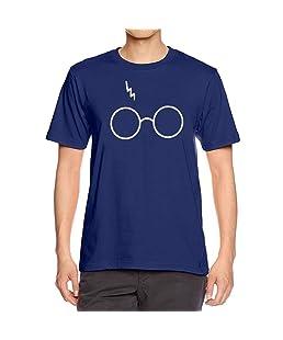 Cinnamou Mode Hommes Impression T-Shirts Chemise à Manches Courtes T-Shirt Blouse (Navy, S)