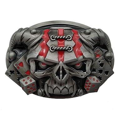 YONE Clown Hat Skull Poker Dice Belt Buckle Boucle de ceinture ... 245670657dd