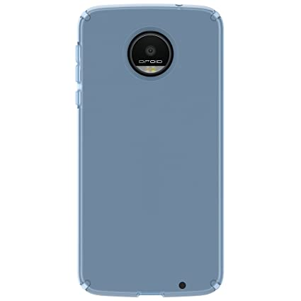 Speck Products CandyShell Clear Case for Moto Z Droid Smartphone, Rainstorm Blue Clear