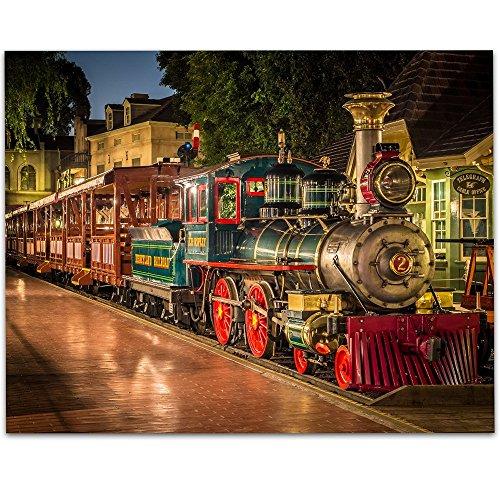 Railroad Train Real Photo (Disneyland Train E. P. Ripey - 11x14 Unframed Art Print - Great Gift for Disney Lovers)