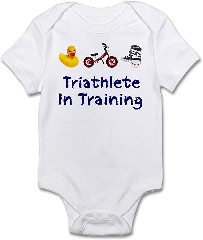 qidushop Triathlete in Training Cute Bodysuit White One-Piece Newborn