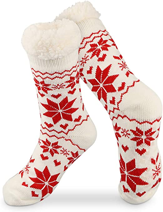 Details about  /Socks Christmas Slipper Gripper Cosy Mens Ladies Soles Kids Fleece Lining Family