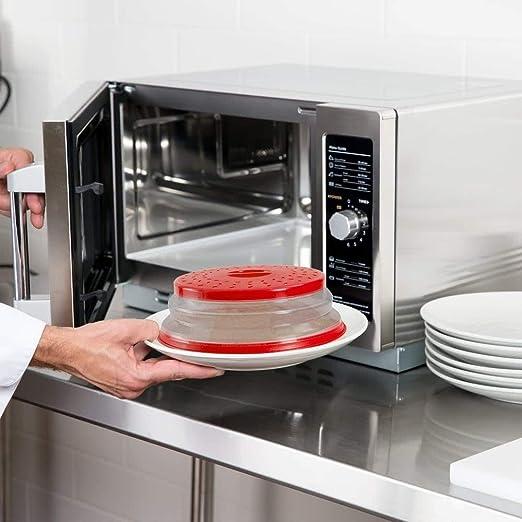 OUCHAN - Colador plegable para microondas para frutas, verduras, sin BPA y no tóxico Redx2
