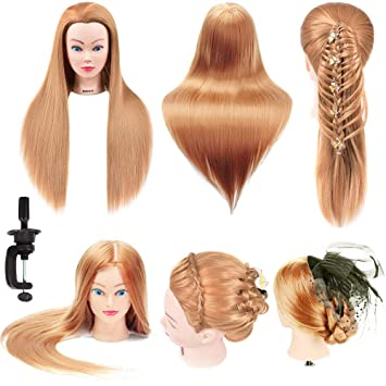 Amazon Com Mannequin Head Hair Styling Training Head Cosmetology Doll Head Synthetic Fiber Hair Manikin Head Colorful Hair Salon Mannequin Head For Hairdresser Cutting Braiding Practice With Free Table Clamp Beauty