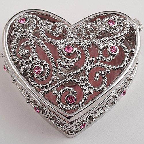 Keren Kopal Red Heart Decorative Handmade Box Faberge Style Trinket Box Home Decor Collectible Box