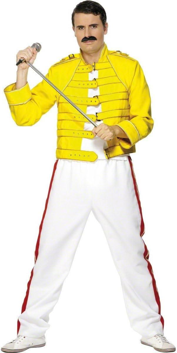 Desconocido Disfraz de Freddie Mercury Queen para hombre: Amazon ...