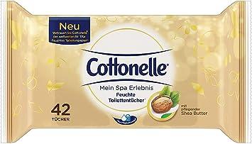 Cotton Elle húmedas inodoro paños Mein experiencia Spa con SEAH Mantequilla (42 Paños), 1er Pack (1 x 42 unidades): Amazon.es: Salud y cuidado personal