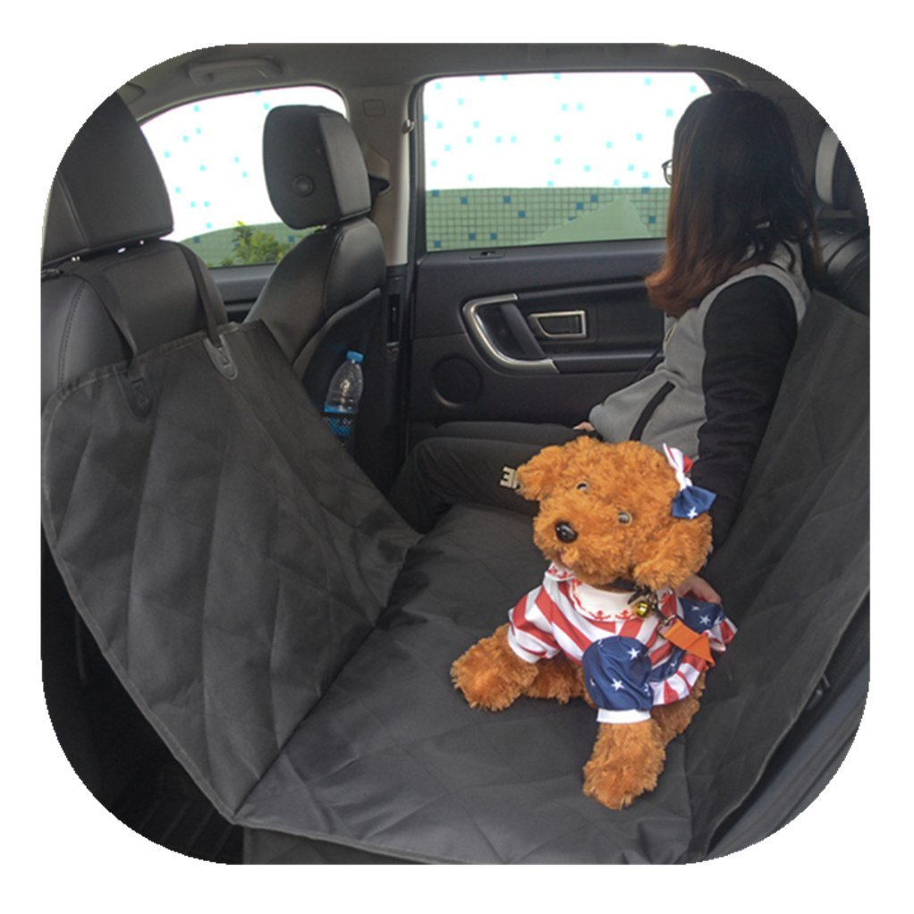 Happinesssale Black pet Rear Back seat Allow People Pets to sit Together Dog Cushion car pad mat