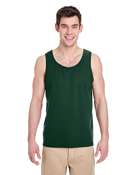 65b7a74099 Gildan Heavy Cotton Tank Top. 5200 Forest Green at Amazon Men's ...
