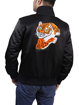 aa6df78a1 Catchy Jackets Men's Eye of The Tiger Jacket Satin Fabric at Amazon ...