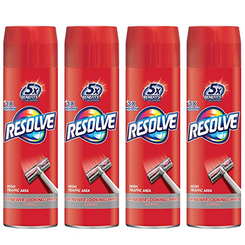 Resolve High Traffic Carpet Foam, 88 oz (4 Cans x 22 oz), Cleans Freshens Softens & Removes Stains by Resolve