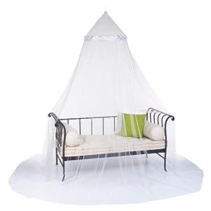 Ciel de lit et moustiquaire - 60 X 250cm - Coloris IVOIRE Blanc