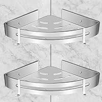 Doucheplank voor badkamer hoekplanken zonder boren, douche Caddy opbergmand, wanddoucheplanken met 2 haken, zelfklevende…
