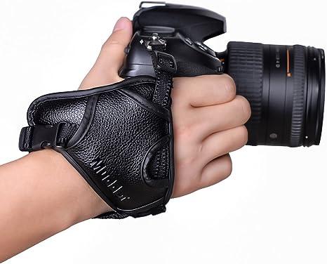 Mudder Cuero de la PU estabilizar ergonómico mano agarre correa ...