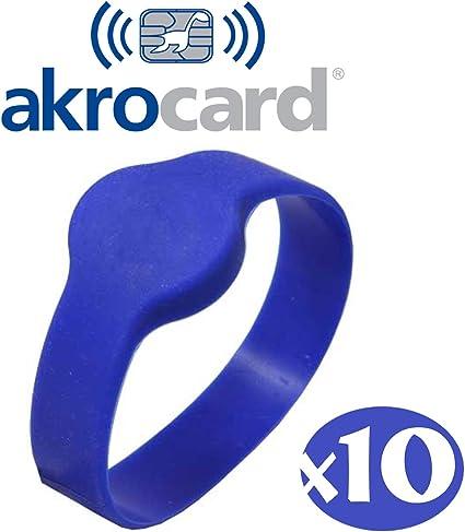 PULSERA SILICONA RFID 125 KHz - TK4100 - ISO14443 A - DIAMETRO: 65mm - ADULTO (PACK 10): Amazon.es: Oficina y papelería