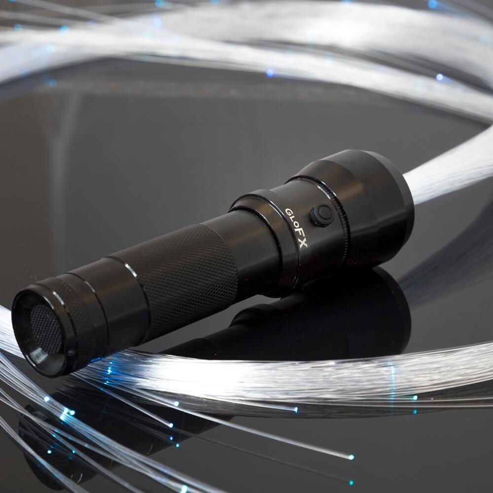 GloFX Space Whip Pro [PROGRAMMABLE LED Fiber Optic Whip] 6 Ft 360° Swivel - Super Bright Light Up Rave Toy | EDM Pixel Flow Lace Dance Festival by GloFX (Image #4)