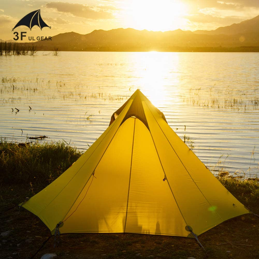 Escalade,randonn/ée Tente de tipi /à Configuration Rapide Kayak Kikilive Tente de Camping 3 Saisons ultral/ég/ère pour Camping ext/érieur de 2 /à 3 Personnes,Tente de randonn/ée pyramidale /étanche