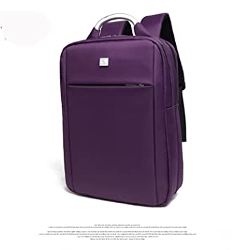 Mochila para portátil 15.6 inch impermeable negro hombres bolsa de viaje morado morado: Amazon.es: Electrónica