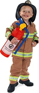 Rubie's Child's Tan Firefighter Costume (Hat Not Included), Toddler