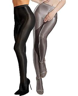 Gatta Black Brilliant Opaque Shiny Shimmering Glamour Tights Black