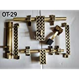 Klaxon Glorious 2 Brass Door Accessories Kit (Antique Finish, 6-Pieces)