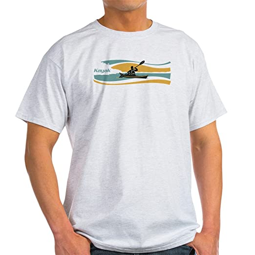 cc97404ec Amazon.com: CafePress Kayak Sunrise T-Shirt 100% Cotton T-Shirt Ash ...